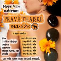 Leták thaiské masáže návrh Jeseník