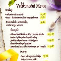 Jídelní lístek velikonoční menu návrh Jeseník