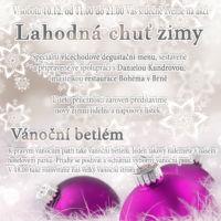 Plakát zimní desgustační menu návrh Jeseník