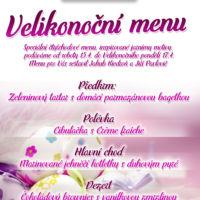 Plakát velikonoční menu návrh Jeseník