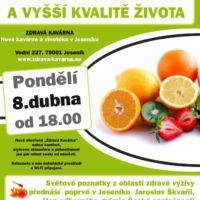 Plakát zdravá návrh kavárna Jeseník